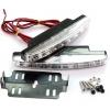 LED dienas gaitas lukturi, 8 diodes, 157x18mm, hromēti