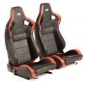 """Krēsls """"Bremen"""", melns/sarkans, regulējams + sliedes, labais + kreisais"""