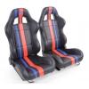 """Krēsls """"Portland"""", melns/sarkans/zils, regulējams + sliedes, labais + kreisais"""