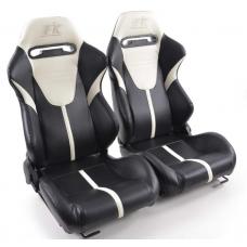"""Krēsls """"Atlanta"""", melns/ balts, regulējams + sliedes, labais + kreisais"""