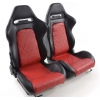 """Krēsls """"Detroit"""", melns/sarkans, regulējams + sliedes, labais + kreisais"""