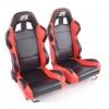 """Krēsls """"Boston"""", melns/sarkans, regulējams + sliedes, labais + kreisais"""