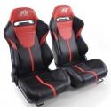 """Krēsls """"Atlanta"""", melns/sarkans regulējams + sliedes, labais + kreisais"""