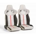 """Krēsls """"Berlin"""", melns/pelēks, regulējams + sliedes, labais + kreisais"""