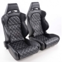 """Krēsls """"Las Vegas"""", melns, regulējams + sliedes, labais + kreisais"""