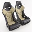 Krēsls smilškrāsas/melns + sliedes, labais + kreisais