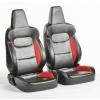 """Krēsls """"München"""", melns/sarkans, regulējams + sliedes, labais + kreisais"""