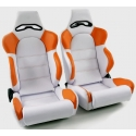 """Krēsls Edition 1"""", oranžs/balts, regulējams + sliedes, labais + kreisais"""