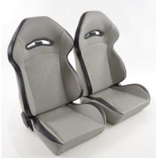 """Krēsls """"Halbschalensitz"""", pelēks, regulējams + sliedes, labais + kreisais"""