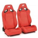 """Krēsls """"Leipzig"""", sarkans, regulējams + sliedes, labais + kreisais"""