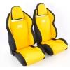 """Krēsls """"Race 5"""", melns/dzeltens, regulējams + sliedes, labais + kreisais"""