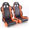 """Krēsls """"Boston"""", melns/oranžs, regulējams + sliedes, labais + kreisais"""
