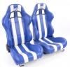 """Krēsls """"Indianapolis"""", zils/balts, regulējams, labais + kreisais"""