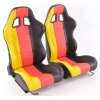 """Krēsls """"Germany"""", melns/dzeltens/sarkans, regulējams + sliedes, labais + kreisais"""