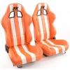 """Krēsls """"Indianapolis"""", oranžs/balts, regulējams, labais + kreisais"""