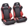 """Krēsls """"Frankfurt"""", melns/sarkans, regulējams + sliedes, labais + kreisais"""