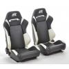 """Krēsls """"Frankfurt"""", melns/balts, regulējams + sliedes, labais + kreisais"""