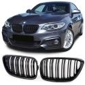 BMW 2er F22 F23 14-16 priekšējā reste, melnas / glancētas/ karbona