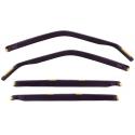 HONDA CIVIC logu deflektori, 4 gab