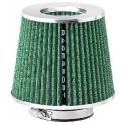 Race sport gaisa filtrs 60mm-76mm ieeja, zaļš