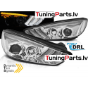 FORD FOCUS MK3 15-18 hromēti DRL LED SEQ
