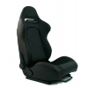 "Krēsls ""Monza"", melns carbon, regulējams + sliedes"
