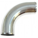 90 degree bend aluminum 40mm, 30cm