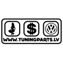 Car sticker - Girl, $, VW - white, 20x9cm