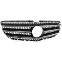Mercedes R Klasse W251 (06-10) priekšējā reste, melna,glancēta / hromēta