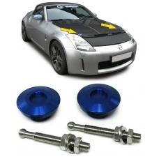 Motora pārsega slēdžu komplekts, zils