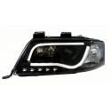 Audi A6 C5 (97-01) head lights, LED dayline, R87, black
