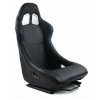 "Krēsls ""Monza"", melns, āda + sliedes"