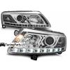 Audi A6 C6 4F (04-08) priekšējie lukturi, LED dayline, DRL, hromēti