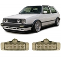 VW Golf 1; Golf 2; Jetta (79-92); Polo 86 (81-90) priekšējie pagriezieni Led, hromēti (mazie)