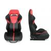 "Krēsls ""R-LOOK II"", melns / sarkans"