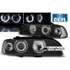 BMW E39 priekšējie lukturi, melni, CCFL eņģeļacis