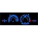 BMW E36; Z3 plasma dials 20-220km/h, white