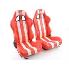 """Krēsls """"Indianapolis"""", sarkans/balts, regulējams, labais + kreisais"""