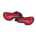 Toyota GT 86 (12-...) LED tail lights, clear & red