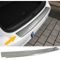 Opel Astra H Caravan (04-07) aizmugures bampera aizsargs, sudraba