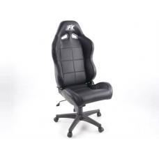 Biroja krēsls bez roku balstiem, ādas imitācijas, melns