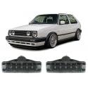 VW Golf 1; Golf 2; Jetta (79-92); Polo 86 (81-90) priekšējie pagriezieni Led, melni (mazie)