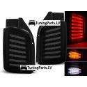 VW T5 (03-15) aizmugurējie LED lukturi, melni/tonēti