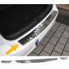 Mazda CX-3 (15-...) aizmugures bampera aizsargs, hromēts