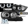 BMW E90/E91 priekšējie lukturi, 3D LED eņģeļ acis, melni, Xenona