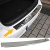 BMW X3 F25 Facelift (14-...) aizmugures bampera aizsargs, hromēts