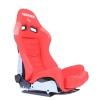 """Krēsls """"LOW MAX"""", sarkans, regulējams + sliedes"""