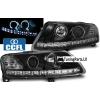 Audi A6 C6 4F (04-08) priekšējie lukturi, CCFL eņģeļ acis, LED dayline, melni