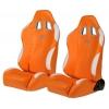 """Krēsls """"New York"""", oranžs/balts, regulējams, labais + kreisais"""