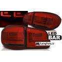 VW Tiguan (07-11) aizmugurējie LED lukturi, sarkani/tonēti
